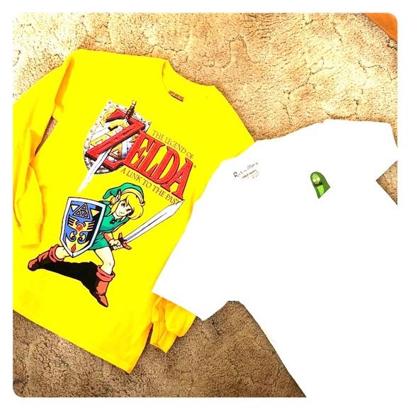 quality design c597e 611cd Legend of Zelda and PICKLE RICK bundle